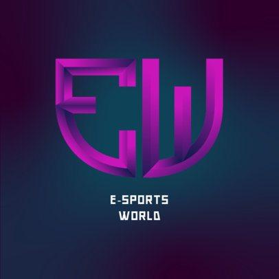 Monogram Logo Maker for an E-Sports Company 3622c