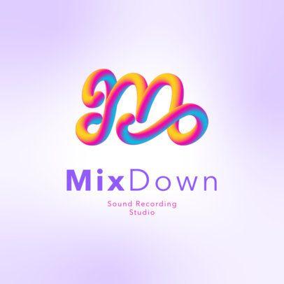 Logo Maker Featuring a 3D Letter for a Music Artist 3613c