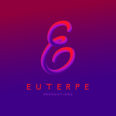 Logo Generator Featuring a Colorful 3D Handwritten Letter 3613l