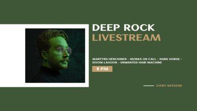 Twitch Banner Design Creator for a Deep Rock Livestream 2740b-el1