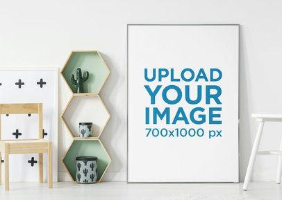 Art Print Mockup Featuring Modern Decorations 38889-r-el2