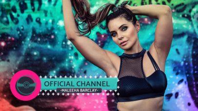 Lower Third Banner Maker for Pop Music Streaming Channels 2905c