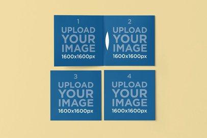 Mockup of Three Digipacks 4908-el1