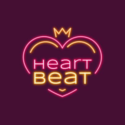 Neon-Colored Logo Generator with a Heart-Shaped Graphic 3633b