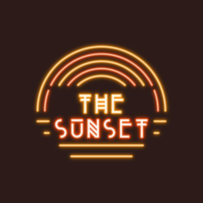 Neon-Themed Logo Generator with a Sunset Graphic 3633d