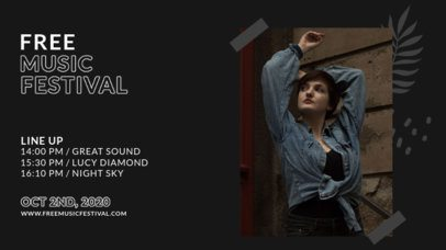 Twitch Banner Design Creator for a Free Music Festival Lineup 2754e-el1