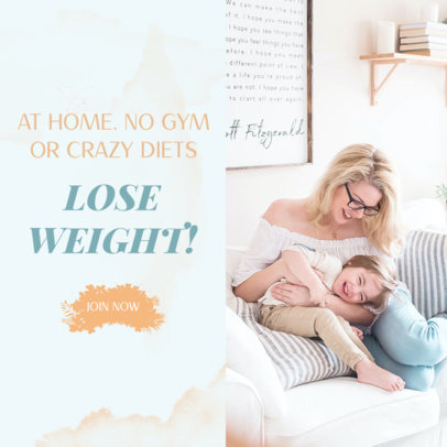 MLM Ad Banner Templates for a Lose Weight Campaign 2903e