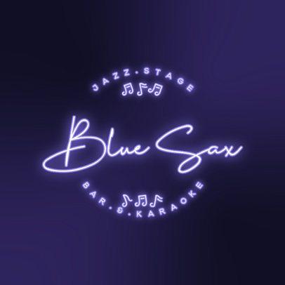 Neon Logo Template for a Karaoke Bar 3632j