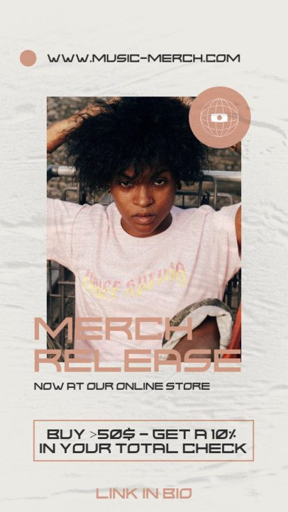 Instagram Story Generator to Promote a Soul Music Artist's Official Merch 2876b-el1