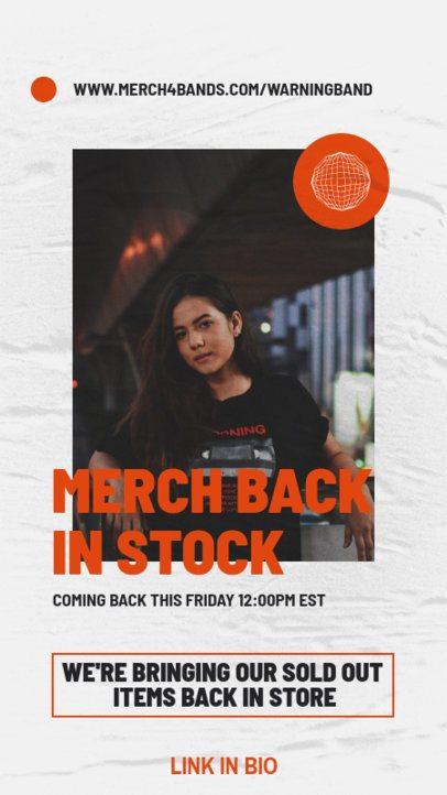 Instagram Story Template for a Rock Music Artist's Merch Restock Announcement 2876d-el1