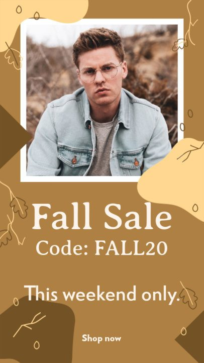 Cool Instagram Story Design Template for an Autumn Sale 2845c