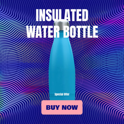 Ad Banner Template for Aluminum Water Bottles 2935a