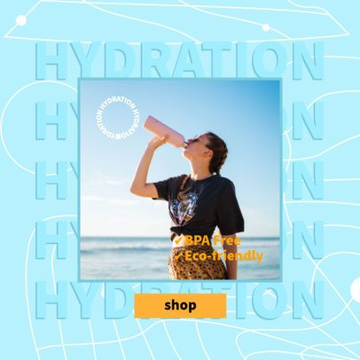 Dropshipping-Themed Ad Banner Template for Eco-Friendly Tumblers  2937a