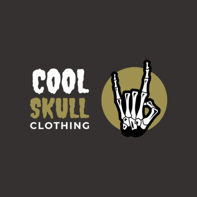 Free Streetwear Logo Maker Featuring a Skeleton Hand Illustration 3695c