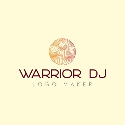 Logo Maker for a DJ Featuring a Thin-Line Circle Graphic 3694f