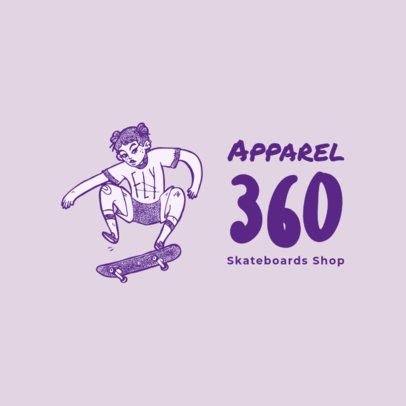 Free Logo Generator for an Apparel Brand Featuring a Skater Illustration 3965s