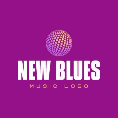 Logo Generator for Musicians Featuring a Disco Ball 3694s