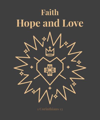 Illustrated T-Shirt Design Maker Featuring a Faithful Heart 2963h