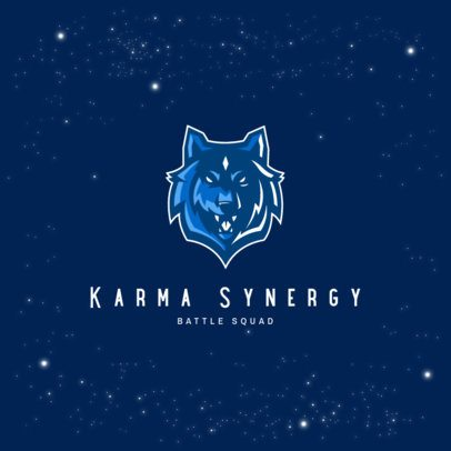 Logo Maker for a Gaming Squad with a Wolf Graphic 3693k