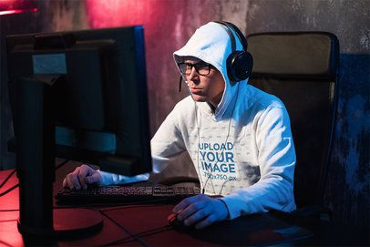 Mockup of an eSports Player Wearing a Hoodie 42780-r-el2