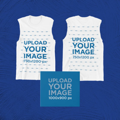 Merch Bundle Mockup Featuring Two Sleeveless Shirts and a Digipak 43381-r-el2