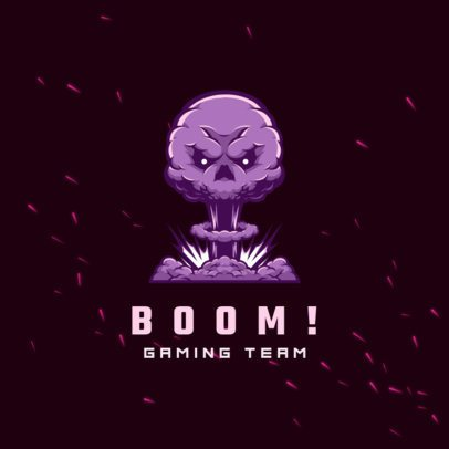 Free Gaming Team Logo Creator with a Graphic of an Explosion 3693t