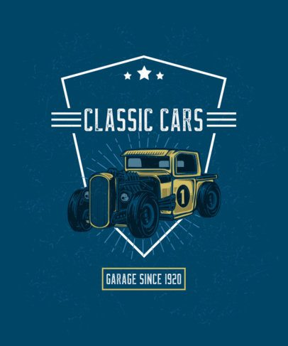 T-Shirt Design Creator Featuring a Classic Hot Rod Automobile 2936b-el1