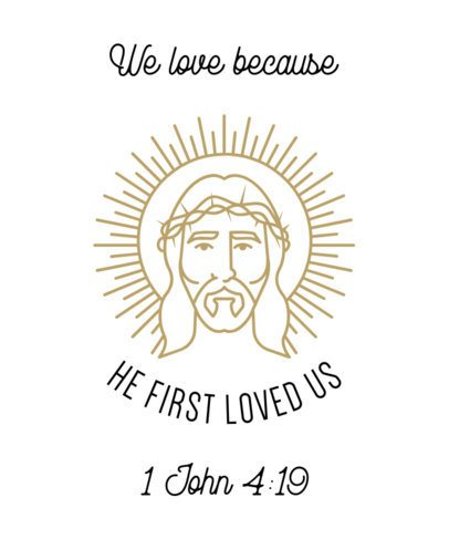 Christian T-Shirt Design Template with a Bible Verse 2964d