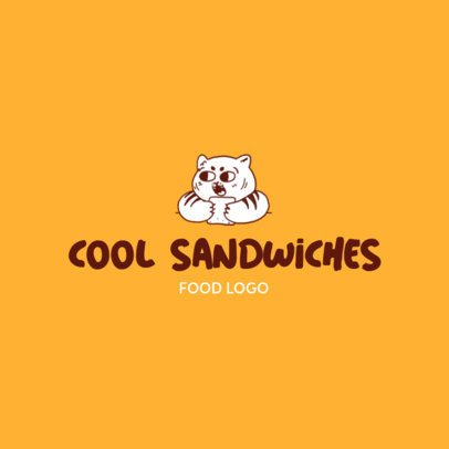 Logo Maker for a Food Business Featuring a Cute Illustration 3696b