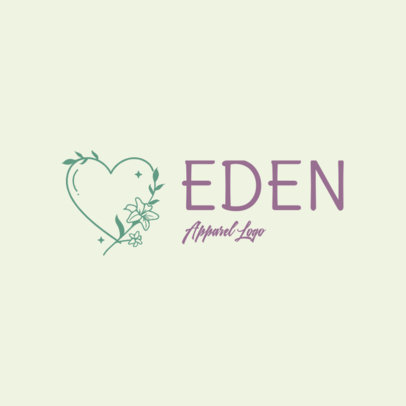 Logo Maker for Clothing Brands with a Minimal Heart Illustration 3696q