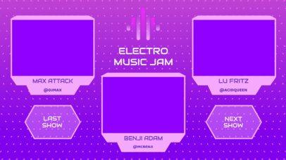 Twitch Overlay Generator for an EDM Live Stream Concert with a Multicam Design 2971e