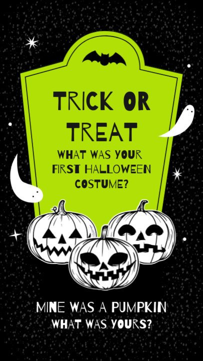 Instagram Story Maker with a Question About Halloween Costumes 2860a-el1