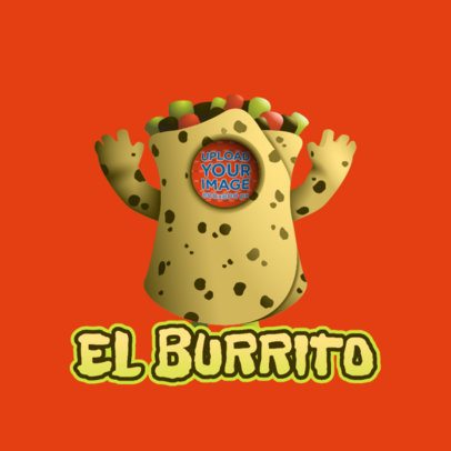 Twitch Emote Logo Template Featuring a Burrito Inspired by Fall Guys 3690g
