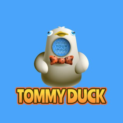 Logo Maker for Twitch Featuring a Duck Emote Inspired by Fall Guys 3690j