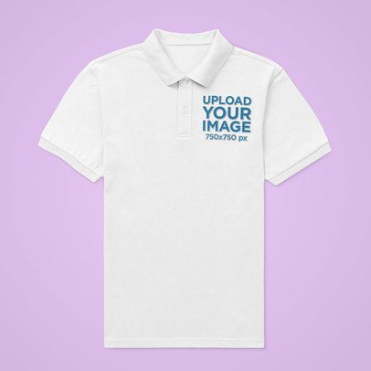 Mockup of a Flat Laid Polo Shirt on a Customizable Surface 42422-r-el2