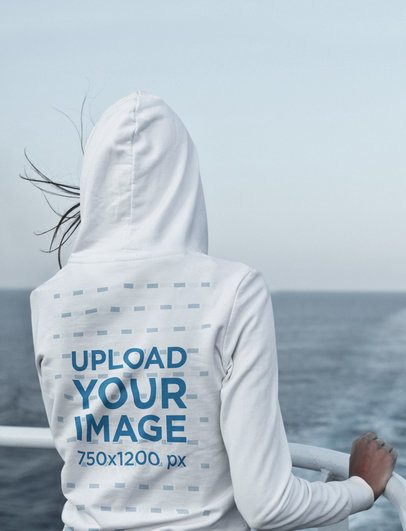 Hoodie Mockup Featuring a Woman in a Ship 41359-r-el2