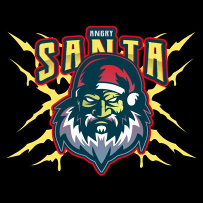 Logo Maker with a Scary Angry Santa Graphic 3711b