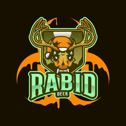 Horror Logo Maker Featuring a Creepy Rabid Deer 3711f