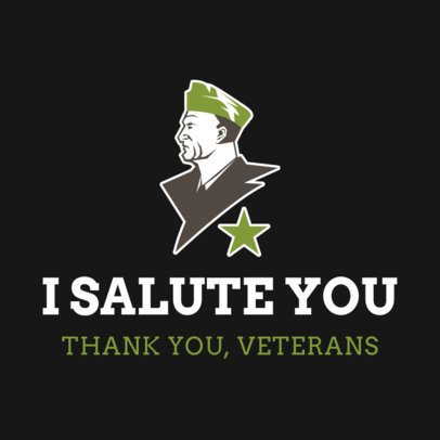 Instagram Post Creator with an Honorable Message to Veterans 2994f