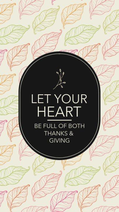 Instagram Story Creator Featuring a Beautiful Gratitude Quote 2949c-el1