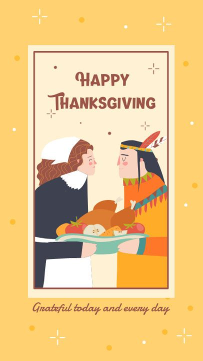 Instagram Story Design Maker to Wish a Happy Thanksgiving Day 2948-el1