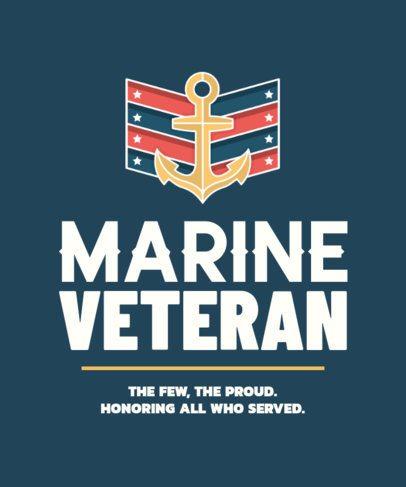 T-Shirt Design Creator for Marine Veterans 2993d