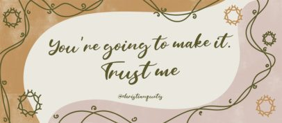 Facebook Cover Design Maker with an Encouraging Quote 2988c