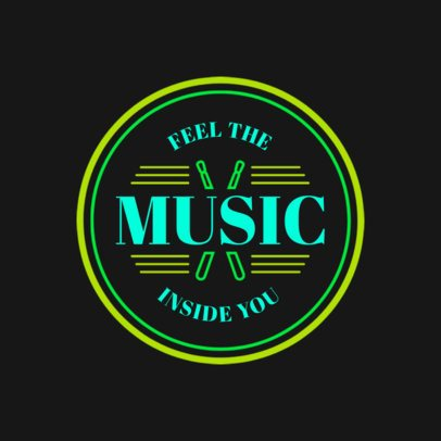 Logo Generator for a Clothing Brand Featuring a Music Quote 3697b
