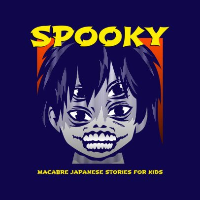 Logo Maker Featuring Illustrations Inspired by Horror Manga 3723