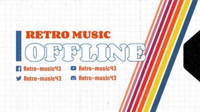 Retro-Themed Twitch Offline Banner Maker  3019a