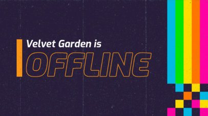 Twitch Offline Banner Generator with a Retro-Aesthetic 3019g