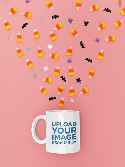 Halloween Mockup Featuring an 11 oz Coffee Mug m119