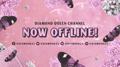 Twitch Offline Banner Generator With a Y2K Girly Aesthetic 3023a