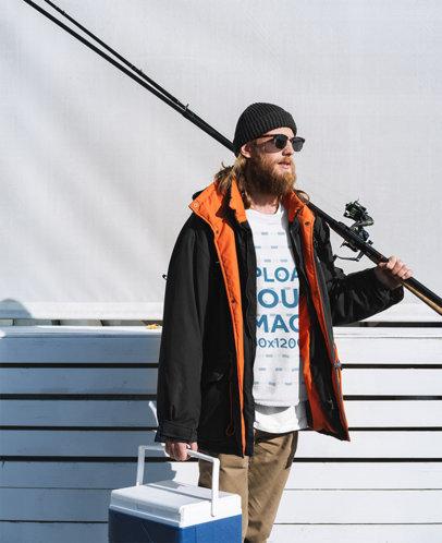 Sweatshirt Mockup of a Man About to Go Fishing 35638-r-el2